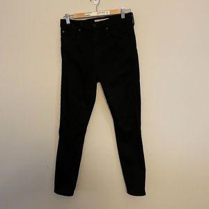 Gap True Skinny Super High Rise Black Jeans
